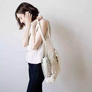 Parisienne Cotton French Market Open Net Tote Bag